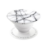 White Gray Marble PopSocket®