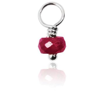 Ruby Gemstone Charm - Love, Passion & Prosperity
