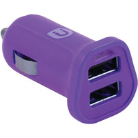 UBER 13119 2.4-Amp 2-Port USB Car Charger (Purple)