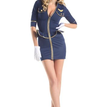 BW1422C 2 Piece Fly Me Pilot Costume - Be Wicked