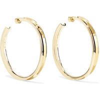 Jennifer Fisher - Reverse gold-plated hoop earrings