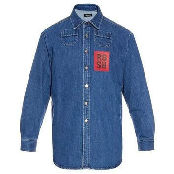 Denim Dress Shirt by RAF SIMONS
