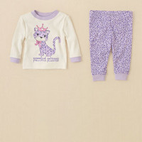 newborn - girls - leopard pj set | Children's Clothing | Kids Clothes | The Children's Place