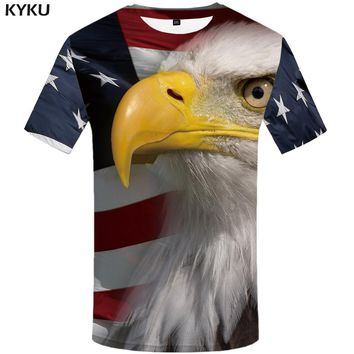 KYKU Brand USA Eagle T Shirt American Flag T-shirt United States Tshirt 3d T-shirt Mens Animal Fitness 2017 Summer Tee