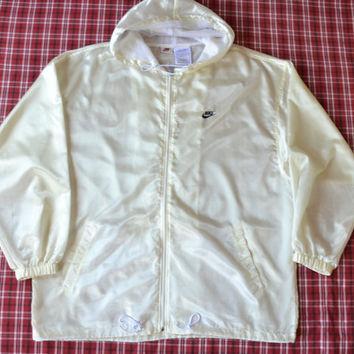 Vintage 90's Nike grey tag swoosh Windbreaker Jacket Nylon L