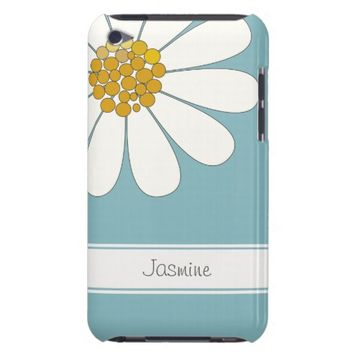 Daisy flower personalize name iPod touch case