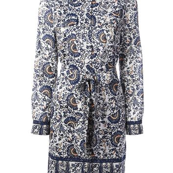 Tory Burch Floral Print Shirt Dress