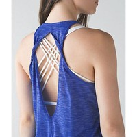 Lululemon Crisscross Fashion Yoga Sport Vest Tank Top