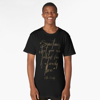 'Aretha Franklin's thoughts' Long T-Shirt by hypnotzd