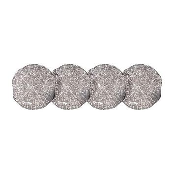 Timber Coasters by Kim Seybert in Silver | Set of 4