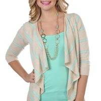 open front striped cardigan - debshops.com