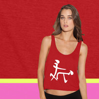 Chinese Sex Symbol Funny ladies' flowy tanktop