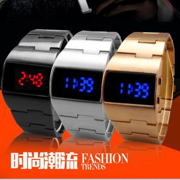 2015 Brand new military Fashion digital electronic Red and blue LED watches man wrist watch for men watch
