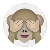 See No Evil Monkey Emoji Edible Frosting Rounds