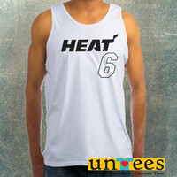 Lebron James 6 Miami Heat Jersey Clothing Tank Top For Mens