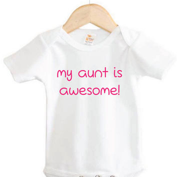 Baby Apparel // my aunt is awesome! Onesuit // baby gift  // baby shower