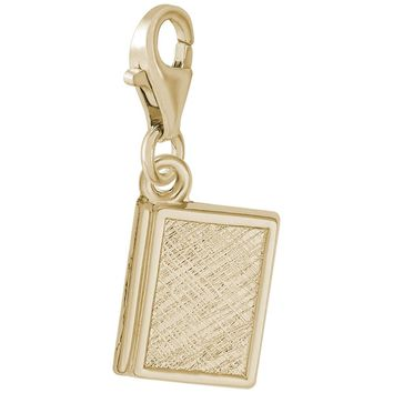 Book Charm in Yellow Gold Plated