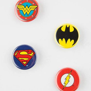 4 Pack DC Comics Pin Set