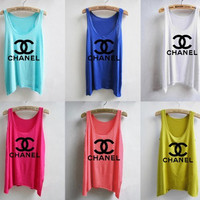 Colorful Chanel Inspired Tank by CocoMyChanel on Etsy