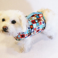 RockinDogs Paw Print Dog Harness