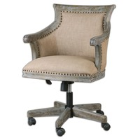 Kimalina Linen Desk Chair by Uttermost