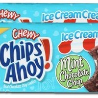 Nabisco, Chips Ahoy! Ice Cream Creations, Mint Chocolate Chip Cookies, 9.5oz Bag (Pack of 2)