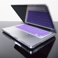 "TopCase® PURPLE Keyboard Silicone Cover Skin for Macbook 13"" Unibody / Macbook Pro 13"" 15"" 17"" with or without Retina Display+ TOPCASE® Mouse Pad"