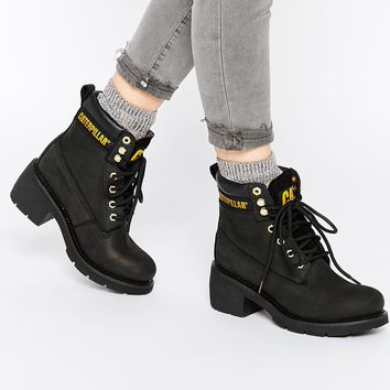 Cat Footwear Ottawa Chunky Lace Up Ankle Boots