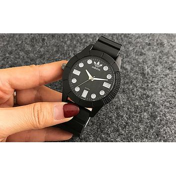 ADIDAS Women Men Fashion Simple Movement Wristwatch Watch Black I-Fushida-8899