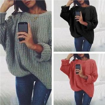 6 Color New Fashion Autumn Winter Women Pullovers Women's Casual O-neck Long Sleeve Sweater Female Loose Striped Knitted Sweater