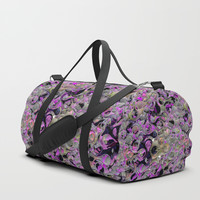 Camouflage Fluid Cell Abstract Duffle Bag by Sheila Wenzel