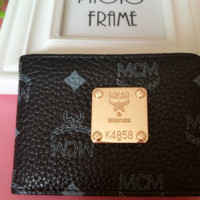 MCM New Fashion Women Small Wallet Black