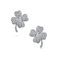 Bling Jewelry Sharp Shamrock Studs