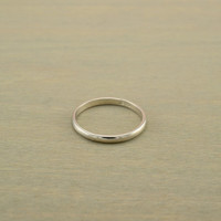 2mm sterling silver simple wedding band ring