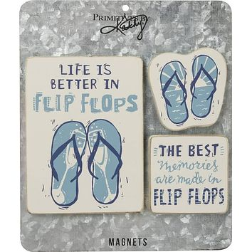 Life Is Better In Flip Flops Magnet Set