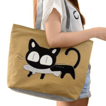 Catfish Canvas Tote Bag