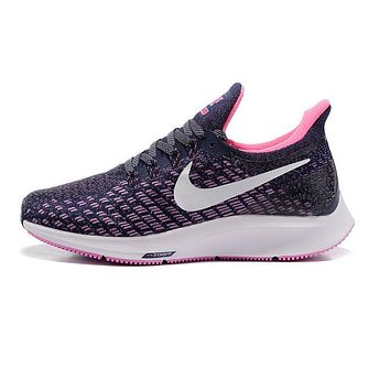 Nike Air Zoom Pegasus All Out Flyknit Black White Pink