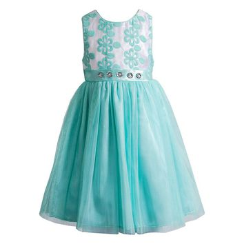 Youngland Floral Organza Dress - Girls
