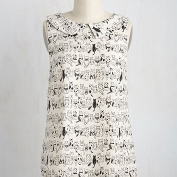 To the Nines Sleeveless Top in Kitties | Mod Retro Vintage Short Sleeve Shirts | ModCloth.com