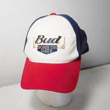 Dale Jr Nascar Bud Born on Date Cap Dale Earnhardt with Budweiser Vintage Adjustable