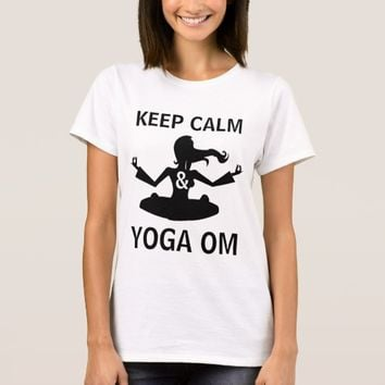 Keep Calm and Yoga OM funny customizable T-Shirt