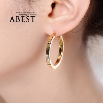 2016 New Arrival Brand Earring Unique Fashion Generous 925 Sterling Silver Big Circle Hoop Earring For Women Jewelry 3 Colors