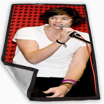 One Direction Harry Styles Inspired Blanket for Kids Blanket, Fleece Blanket Cute and Awesome Blanket for your bedding, Blanket fleece *