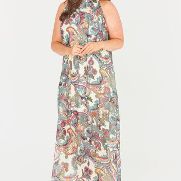 Myah High Neck Maxi Dress