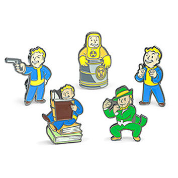 Fallout Enamel Pins 5-Pack Set 1