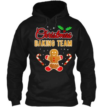 Christmas Baking Team Gingerbread Man  Pullover Hoodie 8 oz