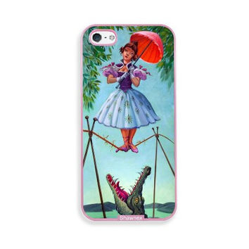 Shawnex Haunted Mansion Stretching Pink Plastic iPhone 5 & 5S Case - Fits iPhone 5 & 5S