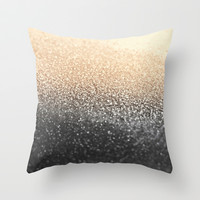 GATSBY BLACK GOLD Throw Pillow by Monika Strigel