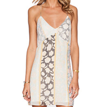 Tularosa Coastline Slip Dress in Floral Stripe