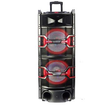 Befree Sound Dual 12 Inch Subwoofer Bluetooth Portable Party Speaker with Sound Reactive Party Lights, USB- SD Input, Rechargeable Battery, Remote Control And 2 Wireless Microphones